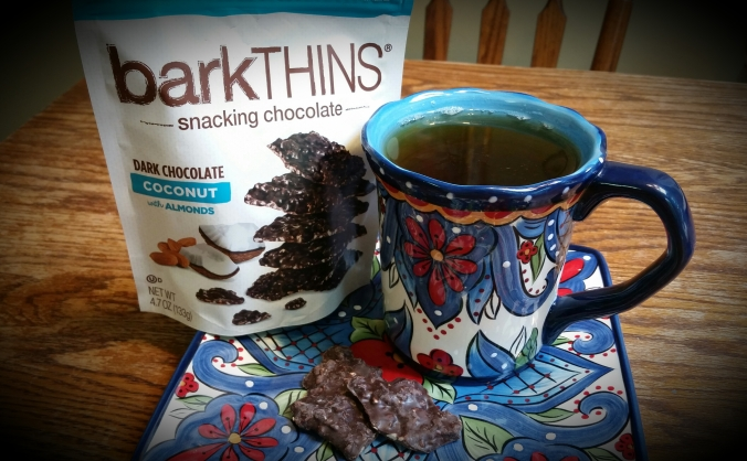 Bark Thins Dark Chocolate Coconut and Green Tea